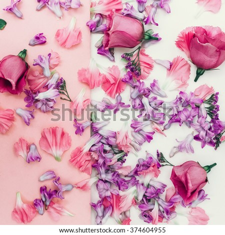 Flowers Romantic background. Spring is coming - stock photo
