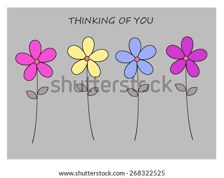 Flowers - Thinking of You - stock photo