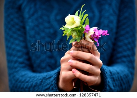 flowers to gift - stock photo