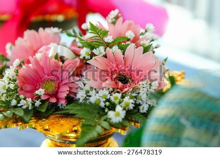 flowers wedding - stock photo