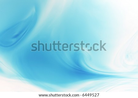 flowing blue background - stock photo