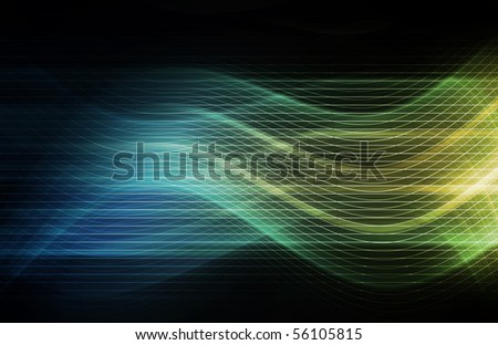 Flowing Energy as a Digital Abstract Background - stock photo