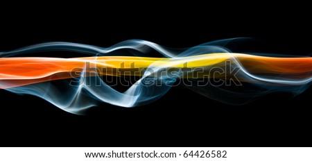 Flowing energy streaks - stock photo