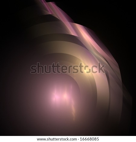 Flowing, layering rings effect, accentuated with soft glow - fractal abstract background