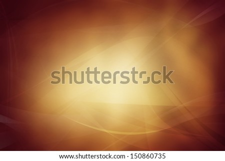 Flowing lines on abstract orange tone background. Copy space - stock photo