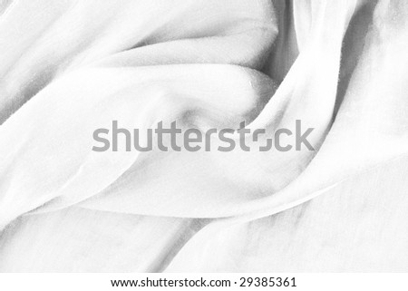flowing shiny white satin background - stock photo