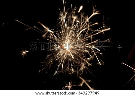 Flowing Sparks, abstract background  - stock photo