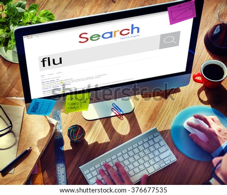 Flu Fever Illness Medical Sick Virus Cold Disease Concept - stock photo