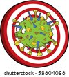 Flu h1n1 virus target. This image is also available  as vector. - stock photo