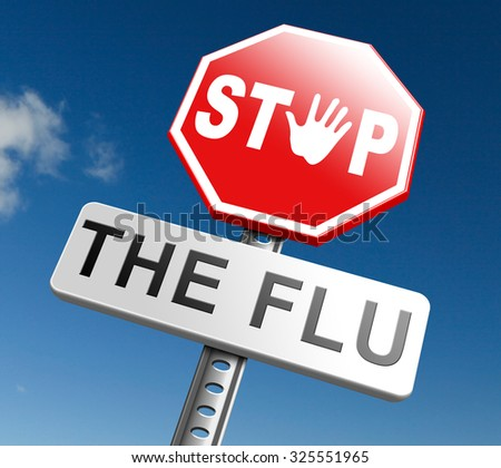 flu shot stop the virus vaccine for immunization prevention by vaccination - stock photo