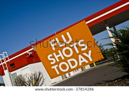 flu shots - stock photo