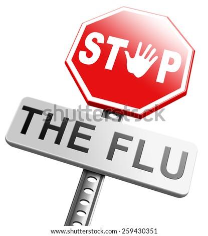 flu vaccination shot stop the virus vaccine for immunization - stock photo