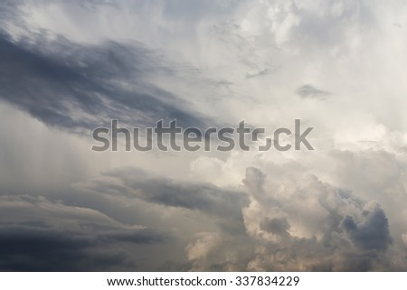 fluffy cloud on sky, dramatic cloudy sky background - stock photo