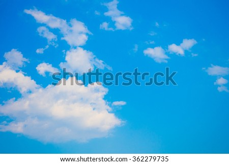 Fluffy Cloud with Blue Sky - stock photo