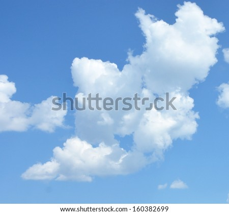 Fluffy clouds - stock photo