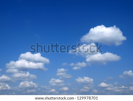 Fluffy clouds. Background - stock photo