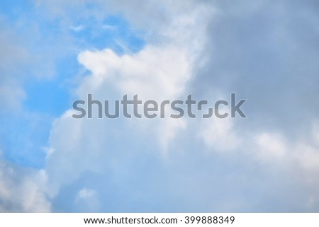 fluffy clouds, soft focus