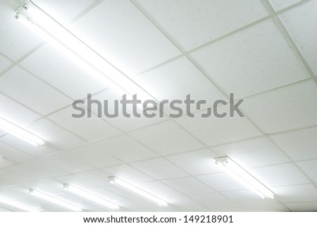 Fluorescent lamp - stock photo