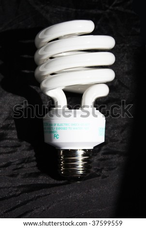 Fluorescent light bulb - stock photo