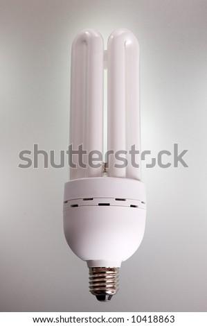 fluorescent light. saving lamp - stock photo