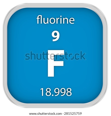 Fluorine material on the periodic table. Part of a series.