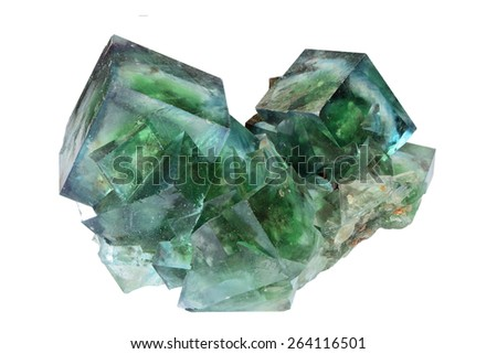 Fluorite from Okorusu, Namibia.  - stock photo