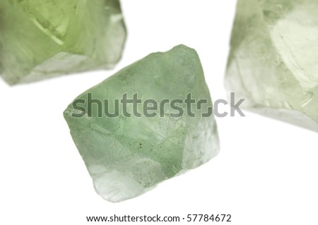 Fluorite on a white background