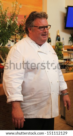 FLUSHING, NY -AUGUST 22: Celebrity chef David Burke during US Open food tasting preview in Flushing on August 22, 2013