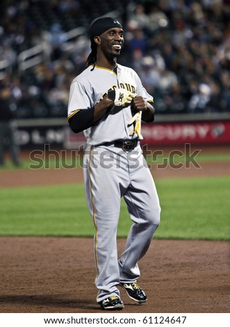 FLUSHING, NY - SEPTEMBER 15: Pittsburgh Pirates outfielder Andrew McCutcheon during a baseball game at Citi Field against the New York Mets on September 15, 2010 in Flushing, New York.
