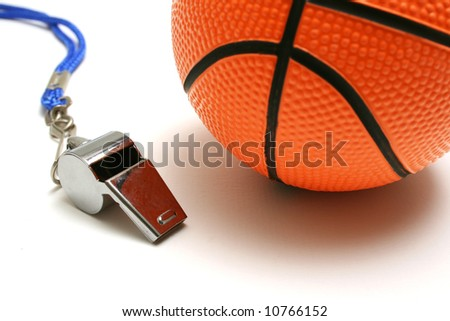 Flute and basketball - stock photo