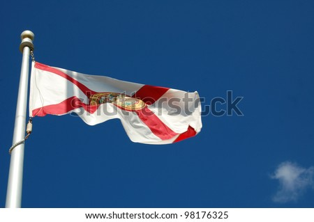 Fluttering Florida State Flag - stock photo