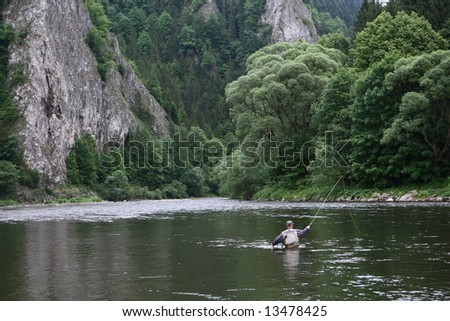 Fly Fisher - stock photo
