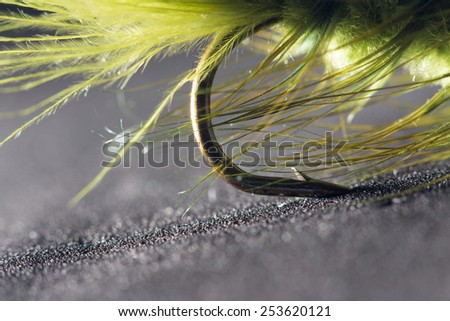 fly fishing. close-up - stock photo