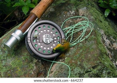 Fly Fishing III - stock photo