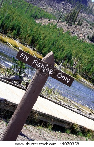 Fly Fishing Sign - stock photo
