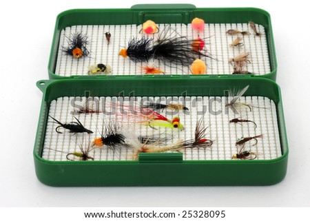 Fly fishing tackle - stock photo