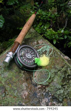 Fly Fishing V - stock photo