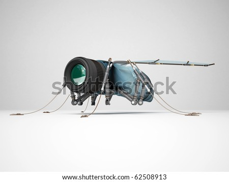 Fly webcams (security cameras) - stock photo