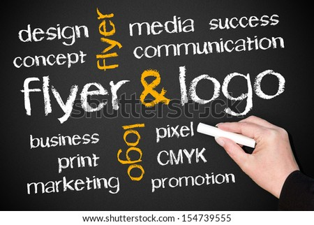 Flyer and Logo - stock photo