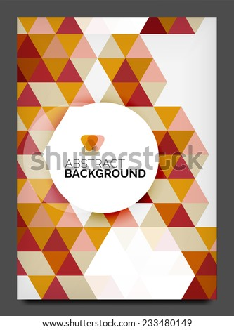 Abstract Modern Flyer Brochure Design Template Stock Vector
