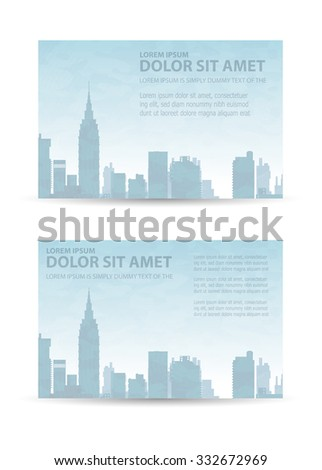 Flyer town for business and corporate business cards and invitations to urban style - stock photo