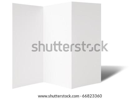Flyer with Z-Fold - stock photo