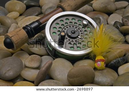Flyfishing Tackle No3 - stock photo