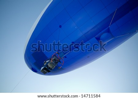 flying blimp - stock photo