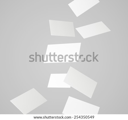 Flying cards - stock photo