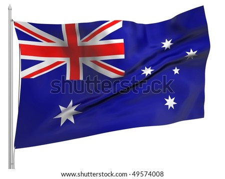 Flying Flag of Australia - All Countries Collection. To view full set - search ?38flagstaff?