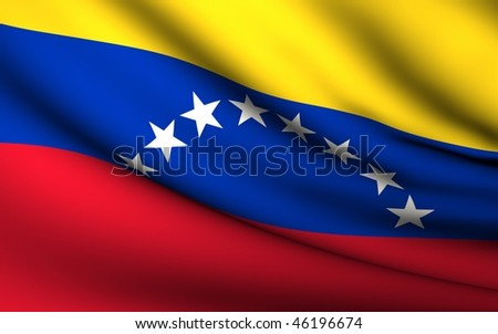Flying Flag of Venezuela | All Countries Collection | - stock photo