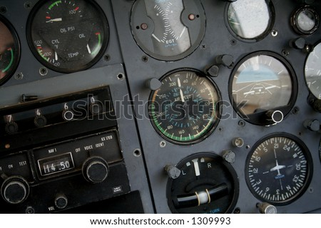 Flying instruments - stock photo