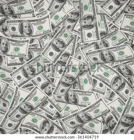 flying money. stack of american dollars backgrounds - stock photo