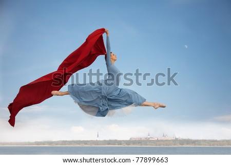 flying over Tallinn - stock photo